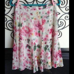 lapis small beautiful silk skirt lined soft flowy